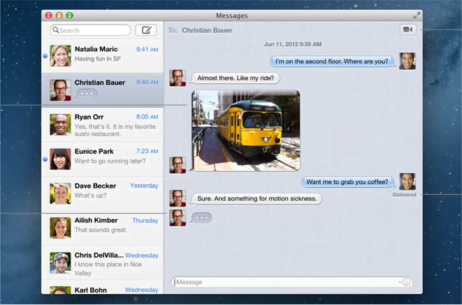 iMessages, copyright by apple