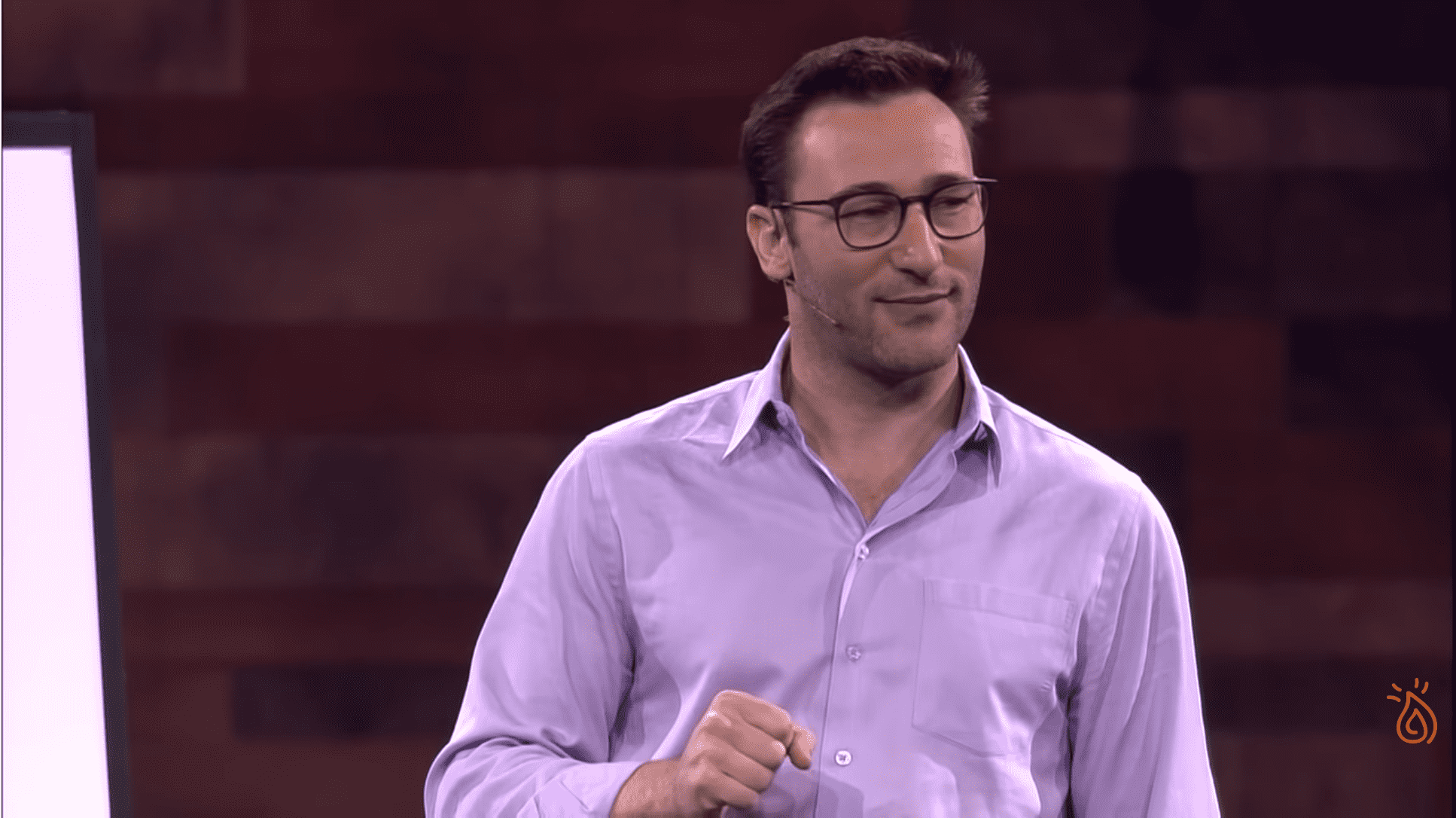Simon Sinek giving his talk 'Know The Game You Are In'